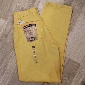 Lee Yellow Loose Fit Jeans - NWT